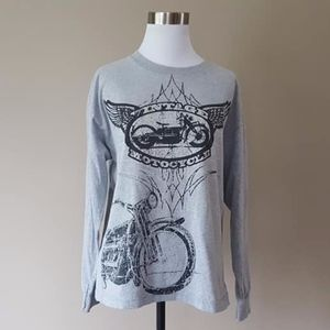 Tee Shirt Vintage Motorcycle XL Long Sleeved, used for sale